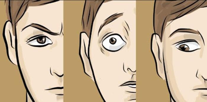 desenho de perfil de rosto com olhares