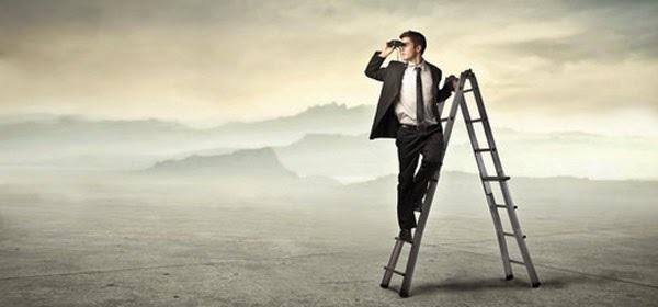 homem buscando objetivos
