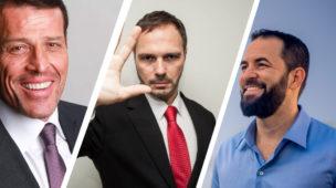 Coaches André Percia, Tony Robbins e Wendell Carvalhho